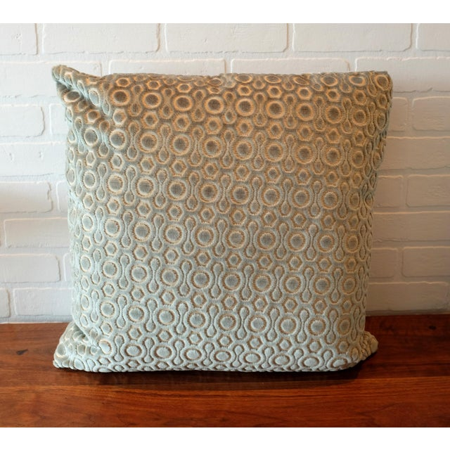 Boho Chic Italian Cut Velvet Pillow Covers - A Pair For Sale - Image 3 of 5