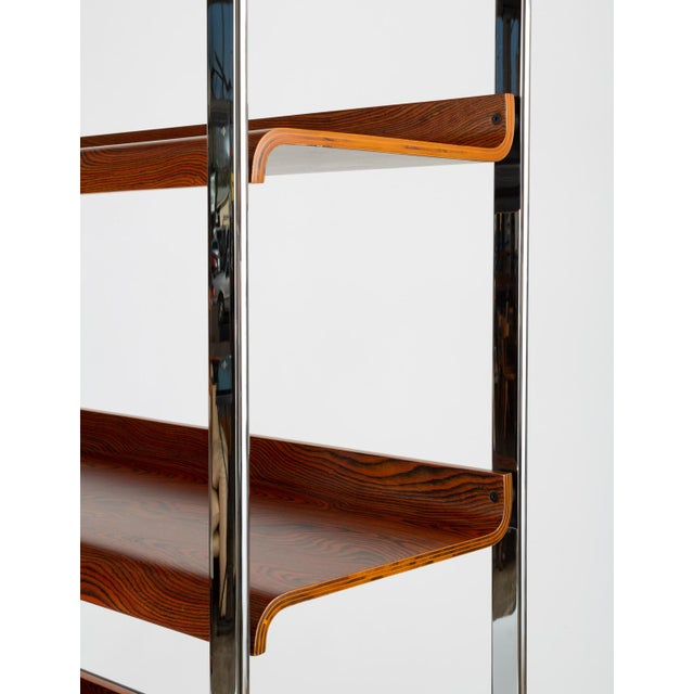 Zebrawood and Chrome Bookshelf by Peter Protzmann for Herman Miller For Sale In Los Angeles - Image 6 of 13