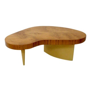 Art Deco Gilbert Rohde Herman Miller Burl Top Coffee Table For Sale