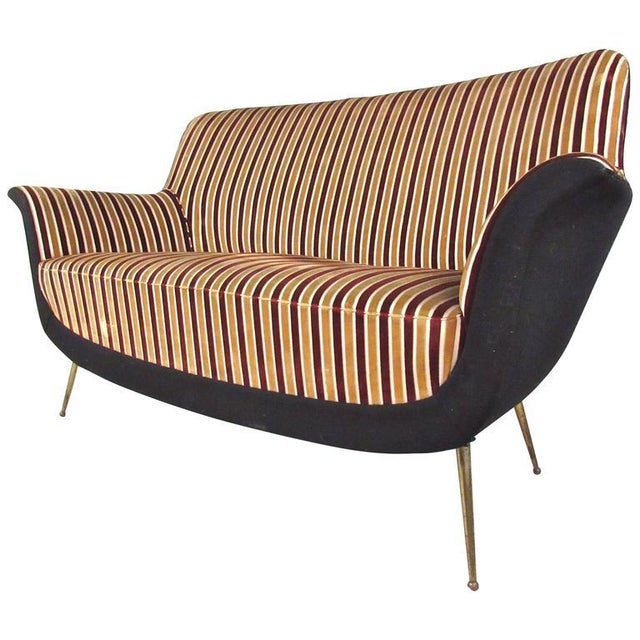Exquisite Italian Modern Loveseat after Marco Zanuso - Image 3 of 11