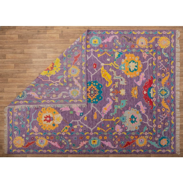 Early 21st Century Contemporary Turkish Oushak Rug - 10′4″ × 13′4″ For Sale - Image 5 of 8