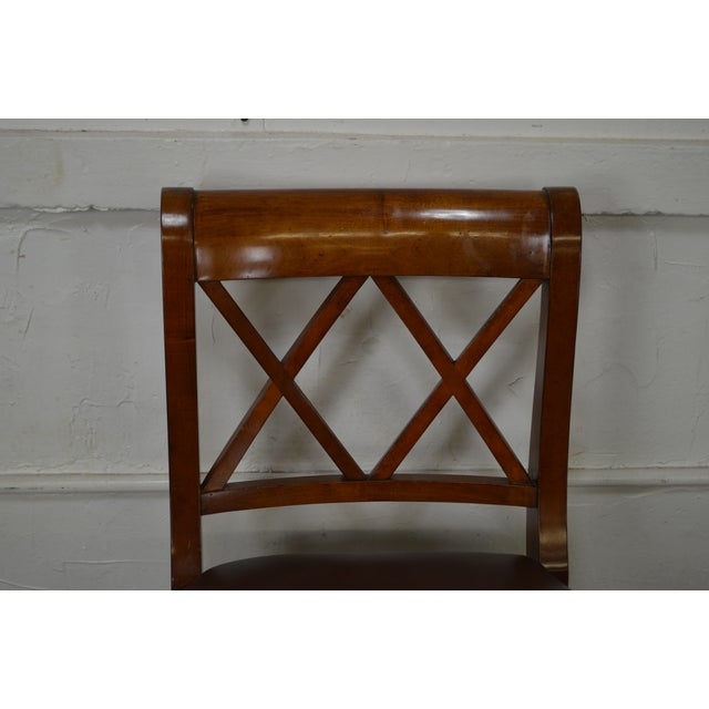 Ethan Allen Regency Style Counter Bar Stools - A Pair - Image 8 of 11