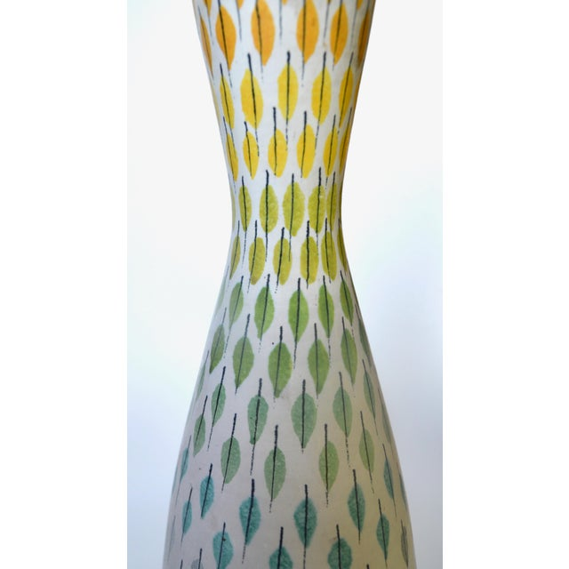 Italian Aldo Londi Multi Pastel Feather Lamp 1950s For Sale In Los Angeles - Image 6 of 7