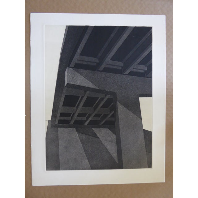 "Original Modern Industrial Graphic Silkscreen, ""Underpass #1"" - Image 2 of 5"