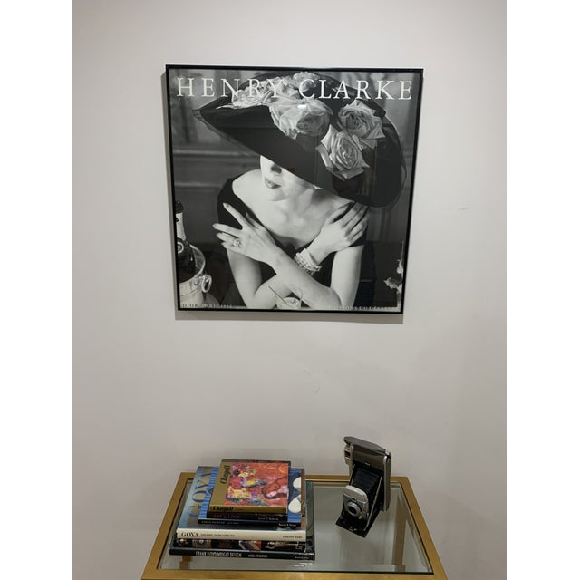 1986 Editions Du Désastre Reproduction Fashion Print After Henry Clarke, Framed For Sale - Image 9 of 13