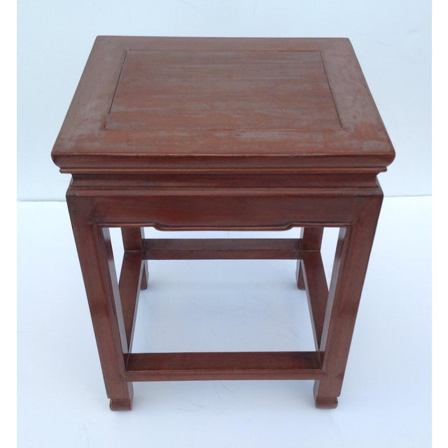 Asian Oak Low Occasional Side Table For Sale - Image 10 of 11