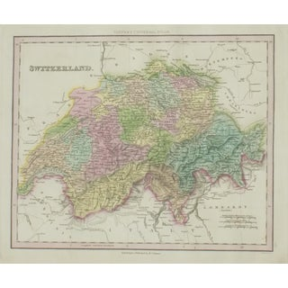 Cowperthwait: Map of Switzerland, 1850