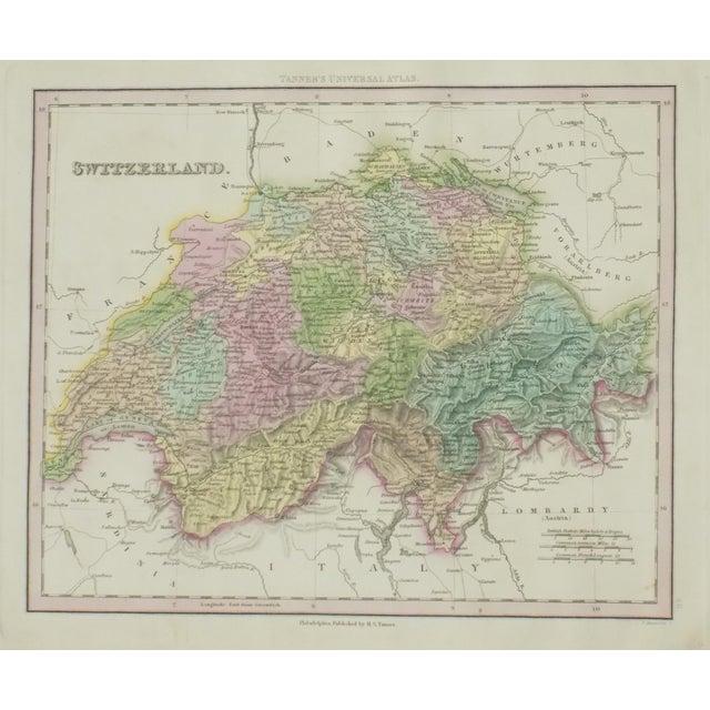 Cowperthwait: Map of Switzerland, 1850 For Sale
