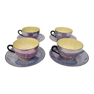 1920s Rudolf Wachter/Richard Ginori Cups & Saucers - Set of 4 For Sale