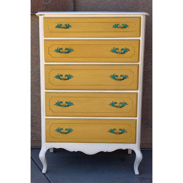 Glass 1930's French Country Chest of Drawers For Sale - Image 7 of 7