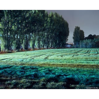 "Contemporary Night Photograph ""Tracks in Field"" by John Vias For Sale"