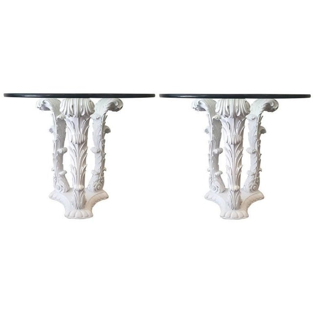 Pair of Serge Roche Carved Wood Tables For Sale In New York - Image 6 of 6