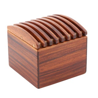 1980's VINTAGE JERRY MADRIGALE EXOTIC WOOD BOX For Sale
