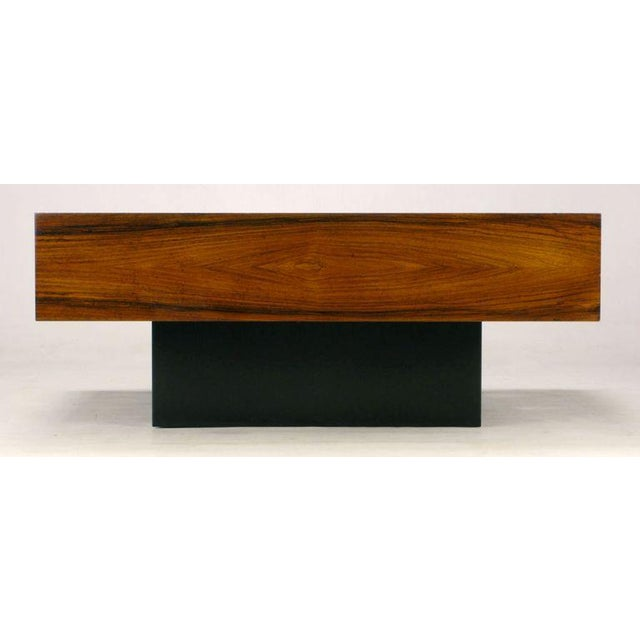 Dyrlund Danish Exotic Wood Parquetry Top Square Coffee Table For Sale - Image 4 of 6