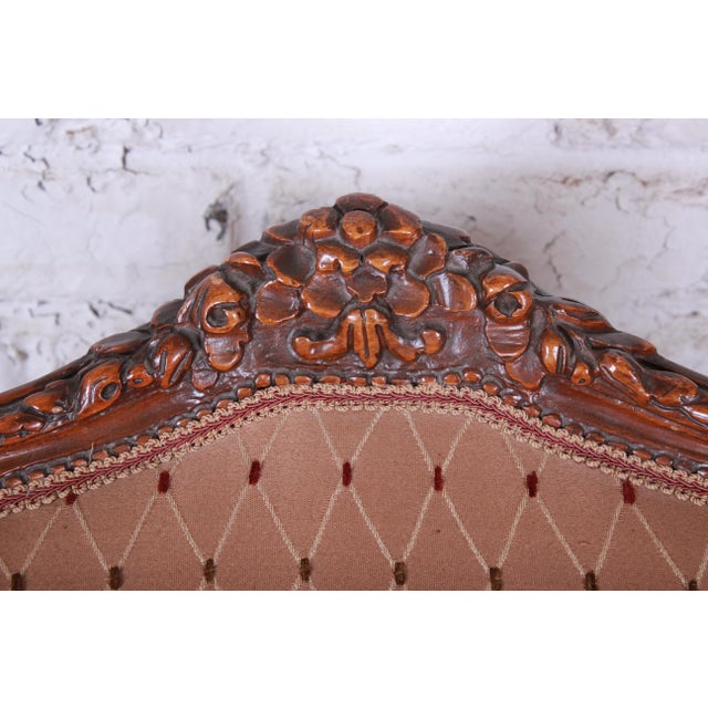 Antique French Carved Wing Back Lounge Chair For Sale - Image 11 of 13