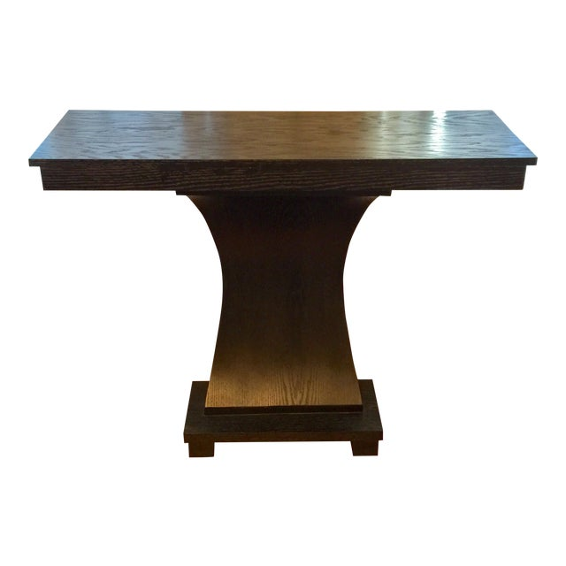 1990s Stained Wood Console For Sale