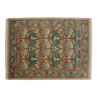 "Vintage Indian William Morris Design Carpet - 9'1"" X 12'4"" For Sale"
