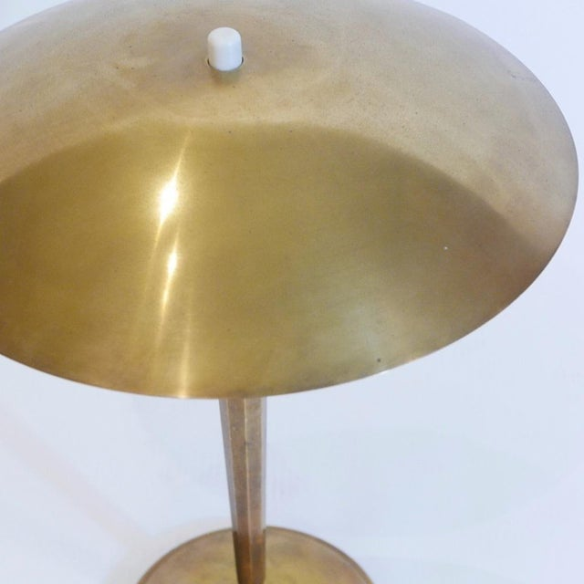 Superb Quality Scandinavian Brass Table , Desk, or Piano Lamp by Bohlmark For Sale - Image 9 of 13