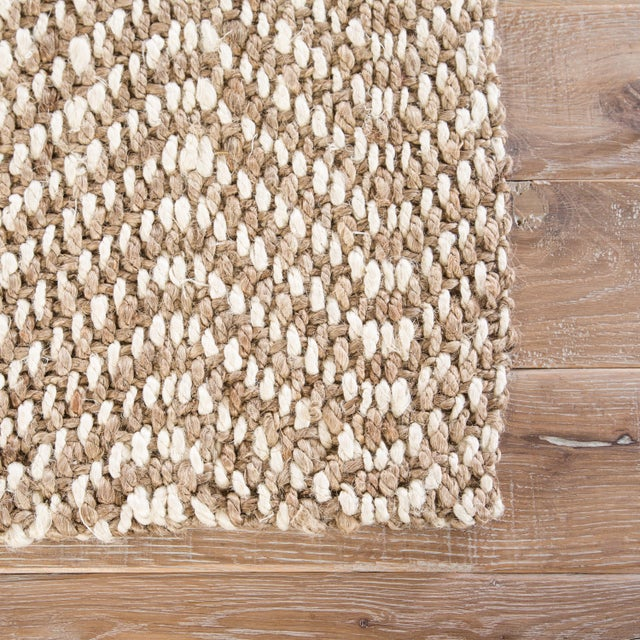 Contemporary Jaipur Living Alix Natural Chevron Taupe/ White Area Rug - 5′ × 8′ For Sale - Image 3 of 6