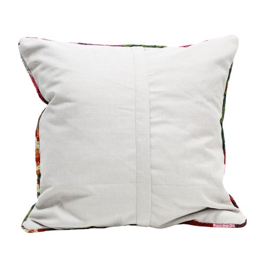 Rose Kilim Throw Pillow - 18×18 For Sale - Image 4 of 5
