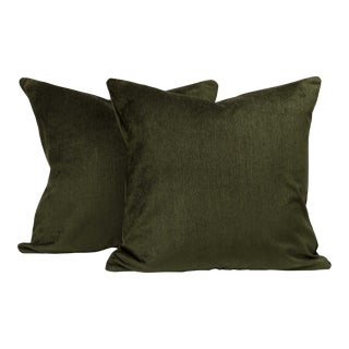 Deep Forest Mid-Century Accent Pillow Cover (Pair) For Sale