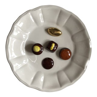 Italian Porcelain Trompe Loeil Plate by Este Ceramics Exclusively for Tiffany & Co. For Sale