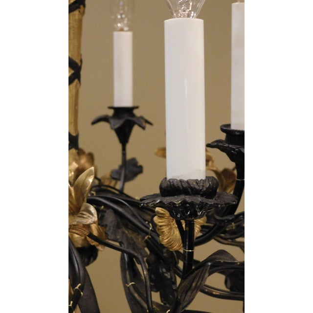 Neoclassical Style Foliate 14-Light Chandelier, France Circa 1905 For Sale In Washington DC - Image 6 of 9