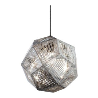 Tom Dixon Etch 32cm Pendant - Stainless Steel For Sale