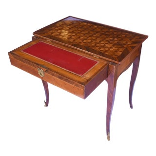 19th C. French Inlaid Writing Table / Desk For Sale