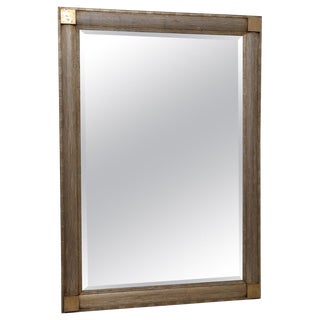 Art Deco Silver Leaf Finish Wall Mirror For Sale