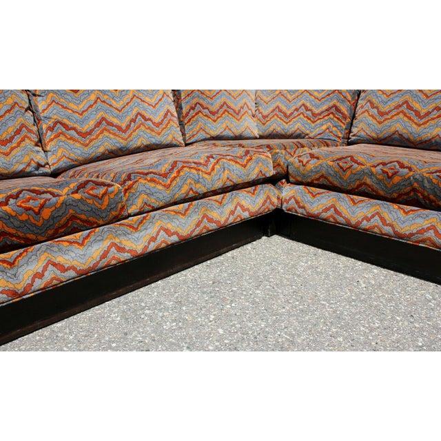 Mid Century Modern Erwin Lambeth 3 Piece Plinth Base Sectional Lenor Larsen 70s For Sale - Image 9 of 10