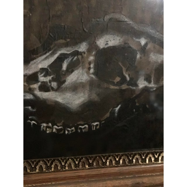 Black and White Watercolor of an Animal Skull For Sale - Image 9 of 11