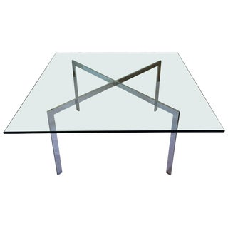 Mies Van Der Rohe Barcelona Style Coffee Table, 1970s For Sale