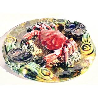 Ceramic Majolica Crab Plate Preview
