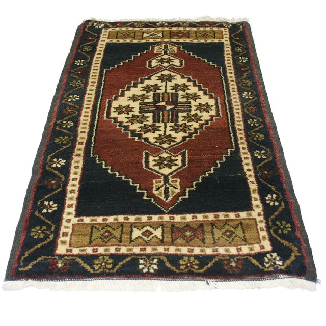 "Vintage Kurdish Carpet - 1'10"" x 3'2"" - Image 2 of 2"