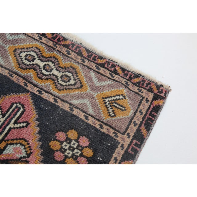 """1960s Turkish Pure Wool Carpet - 43"""" X 21"""" For Sale - Image 9 of 11"""