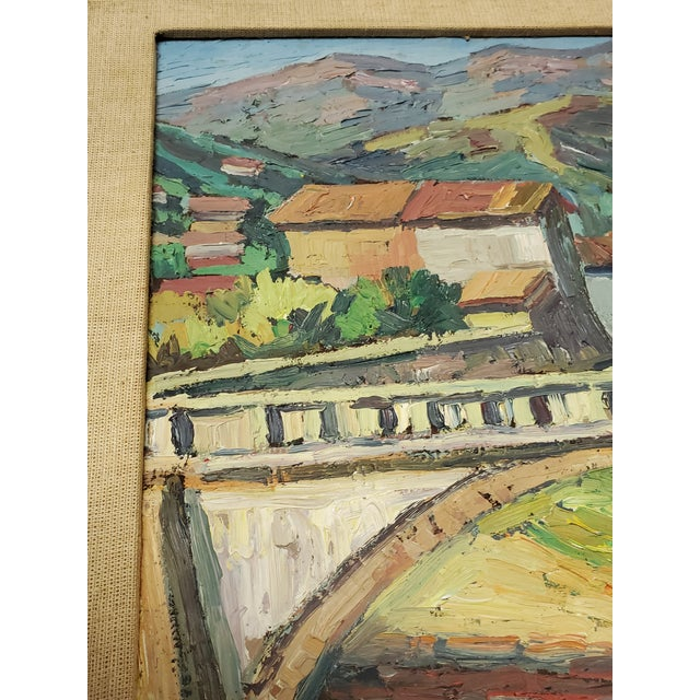 This is a very nice vintage thick stroke impressionistic painting from South America, namely, Argentina. Its use of...