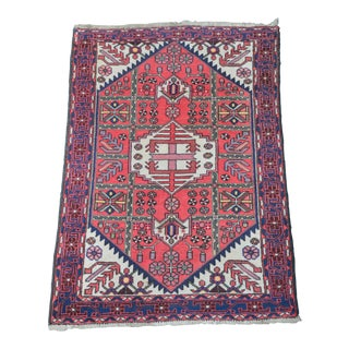 "Vintage Persian Kazak Rug - 5' X 3"" 7' For Sale"