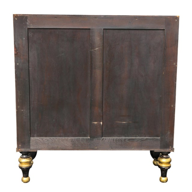 Regency Style Rosewood and Gilded Credenza For Sale - Image 10 of 11
