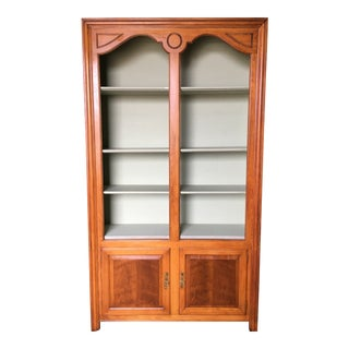 1940's Wood Bookcase Display Cabinet For Sale