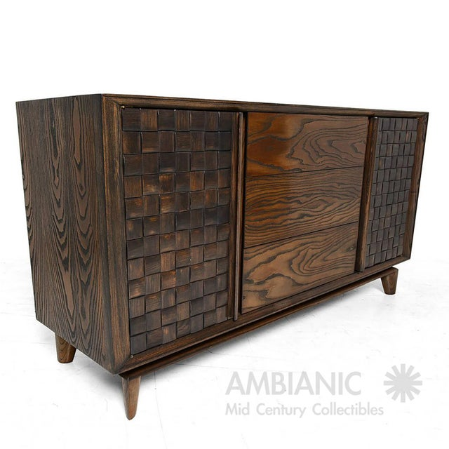 Modern Checkered Credenza by Paul Laszlo for Brown Saltman For Sale - Image 10 of 10