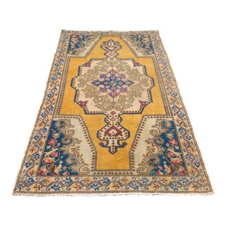 Vintage Anatolian Area Rug - 4′7″ × 7′9″ For Sale