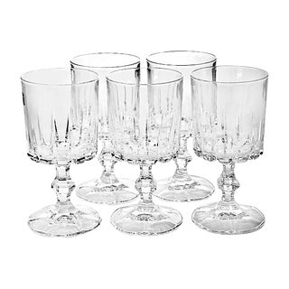 Italian Crystal Goblets - Set of 5 For Sale