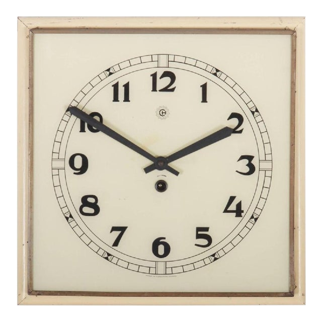 Art Deco Wall Clock, 1936 For Sale