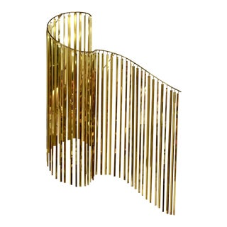 Kinetic Wave Brass Art by Curtis Jere 1983