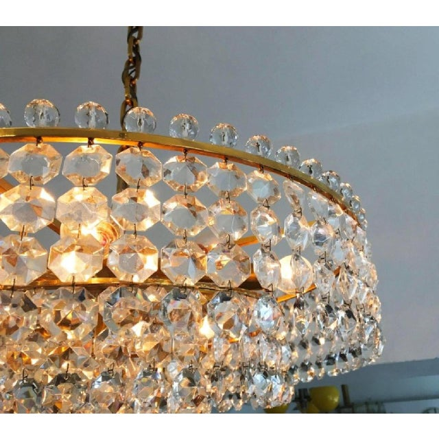 1960s Cut Crystal Chandelier by Bakalowits, 1960s For Sale - Image 5 of 6