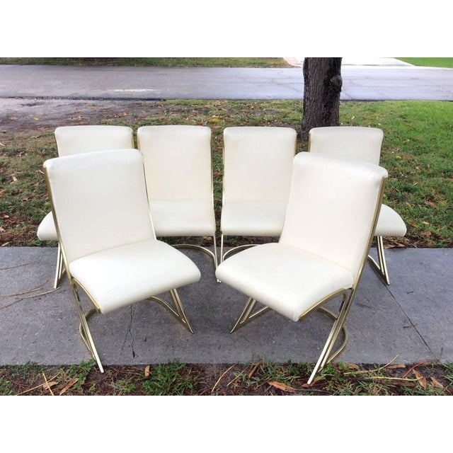 Pierre Cardin Vintage Brass Dining Chairs - Set of 6 For Sale - Image 5 of 12