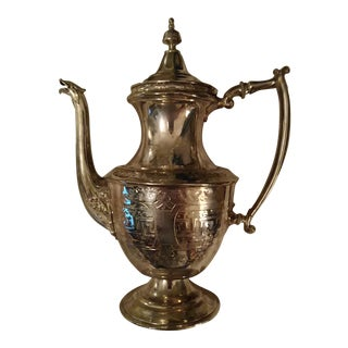 Redfield & Rice Silverplated Coffeepot For Sale