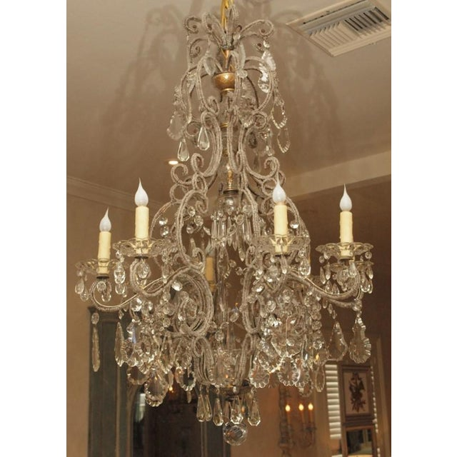 Italian 19th C Italian 6 Lite Chandelier For Sale - Image 3 of 4