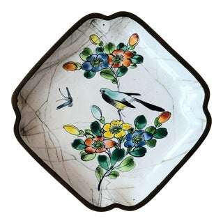 Antique Chinese Canton Enamel Dish For Sale